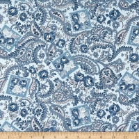 Riley Blake Designs Tranquility Paisley Dusk