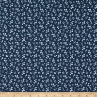 Riley Blake Designs Tranquility Blossoms Navy