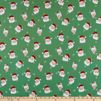 Riley Blake Santa Claus Lane Main Green