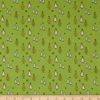 Riley Blake Merry Little Christmas Trees Green