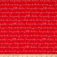 Riley Blake Merry Little Christmas Writing Red