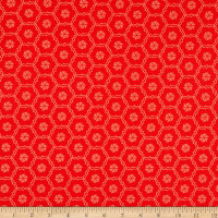 Riley Blake Designs Shades Of Summer Hexi Red