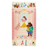 """Riley Blake Designs Beauty And The Beast 24"""" Panel Pink"""