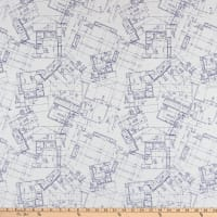 Riley Blake Designs Conservatory Blue Print White