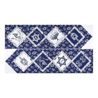 "Riley Blake Festival Of Lights Table Runner 24"" Panel Blue"