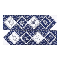 "Riley Blake Festival Of Lights Table Runner 24"" Panel Metallic Silver"