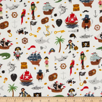 Riley Blake Pirate Tales Scatter Cream