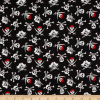 Riley Blake Pirate Tales Skulls Black