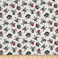 Riley Blake Pirate Tales Skulls Cream