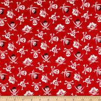Riley Blake Pirate Tales Skulls Red