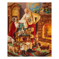 "Riley Blake Designs A Christmas Classic Santa And Friends 36"" Panel Multi"