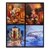 "Riley Blake Designs A Christmas Classic Panel Pillow 36"" Panel Multi"