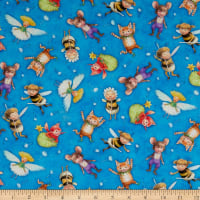 Michael Miller Fabrics The Pixie Collection Flight of Fantasy Blue