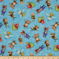 Michael Miller Fabrics The Pixie Collection Flight of Fantasy Sky