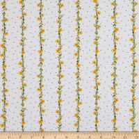 Michael Miller Fabrics The Pixie Collection Wispy Wishes Bright White