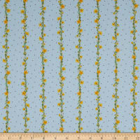 Michael Miller Fabrics The Pixie Collection Wispy Wishes Sky