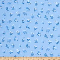 Windham Fabrics English Garden Floral Clutter Blue