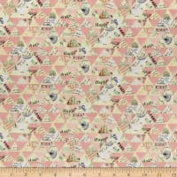 Whistler Studios Metallic Wish Collaged Triangles Millennial Pink