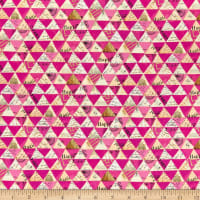 Whistler Studios Metallic Wish Collaged Triangles Hot Pink