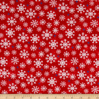 Whistler Studios Christmas USA Snowflakes Red
