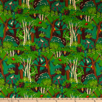 Windham Fabrics Heather Ross 20th Anniversary Climbing Trees Green