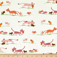 Windham Fabrics Heather Ross 20th Anniversary Morning Cats Cream
