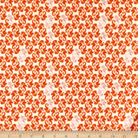 Windham Fabrics Heather Ross 20th Anniversary Sea Horses Cream/Orange