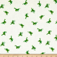 Windham Fabrics Heather Ross 20th Anniversary Frogs White