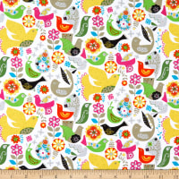 Windham Fabrics Fiesta Floral Flight White