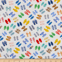 Windham Fabrics Organic Winter Gnomes Mittens Snow White