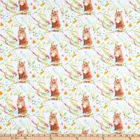 Windham Fabrics Fox Wood Curious Fox White
