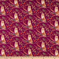 Windham Fabrics Fox Wood Curious Fox Plum
