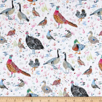 Windham Fabrics Fox Wood Bird Season White