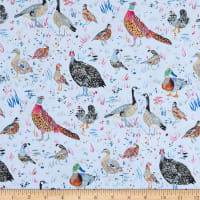 Windham Fabrics Fox Wood Bird Season Blue