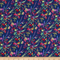 Windham Fabrics Fox Wood Garden Navy