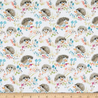Windham Fabrics Fox Wood Hedgehogs White