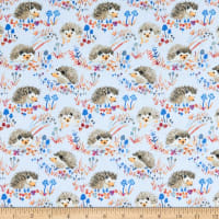 Windham Fabrics Fox Wood Hedgehogs Blue