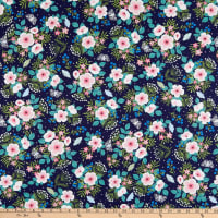 Windham Fabrics Meadow Whispers Meadow Flowers Midnight