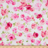 Windham Fabrics Love Pink Roses White