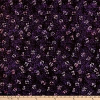 Anthology Fabrics Jacqueline De Jonge Flirt Rose Bush Dark Purple