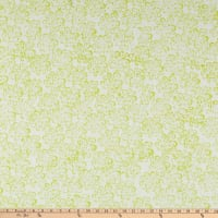 Anthology Fabrics Love Talk Batik Dotted Buds Lime