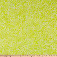 Anthology Fabrics Love Talk Batik Jacks Lime