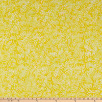 Anthology Fabrics Love Talk Batik Peapods Yellow