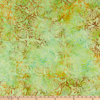 Anthology Fabrics Love Talk Batik Outline Leaves Multi