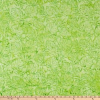 Anthology Fabrics Love Talk Batik Outline Leaves Green