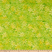 Anthology Fabrics Love Talk Batik Maple Leaves Clover