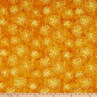 Anthology Fabrics Love Talk Batik Mums Honey