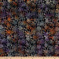 Anthology Batiks Trick Or Treat Spiderwebs Black