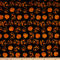 Anthology Batiks Trick Or Treat Jack-O-Lanterns Black