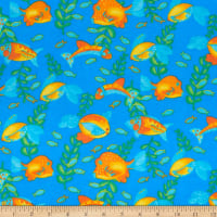Comfy (R) Flannel Print Tropical Fish